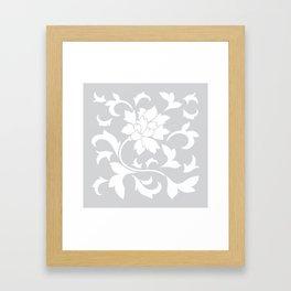 Oriental Flower - Silver Framed Art Print