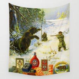 Vintage Russian Gunpowder Advertisement Wall Tapestry