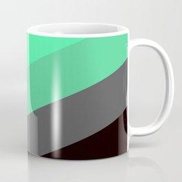 Mint Green Gray Chevron Stripes Coffee Mug