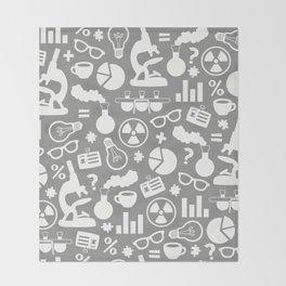 Grey Scientist Throw Blanket