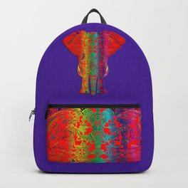 Rainbow Ganesha (Purple Background) Backpack