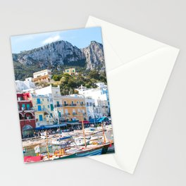 Boats in Capri, Italy Stationery Cards