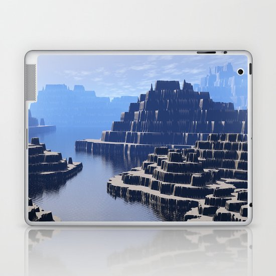 Mysterious Terraced Mountains Laptop & iPad Skin