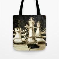 chess Tote Bags featuring Chess by James Peart