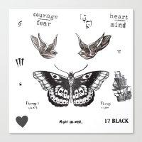 la Canvas Prints featuring Tattoo à la Harry by Kate & Co.