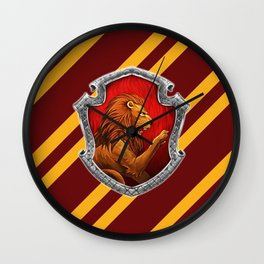 Gryffindor Hogwarts Stripes Wall Clock