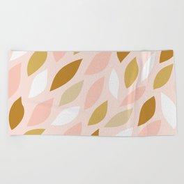 Leaves Pattern 1 Beach Towel