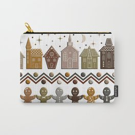 Gingerbread Row Dance in Snow White Carry-All Pouch