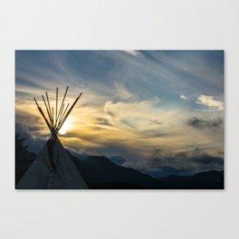 Alaskan Campout Canvas Print