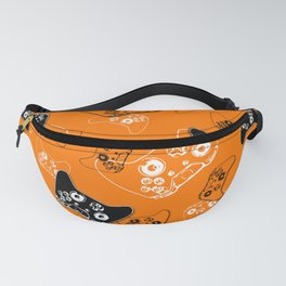 Video Game Orange Fanny Pack