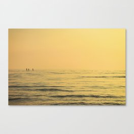 Three Paddlers Canvas Print