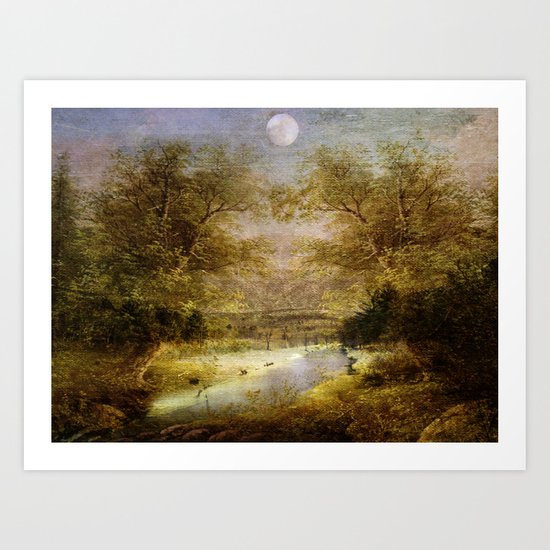 Beautiful Tomorrow at the Canal Art Print