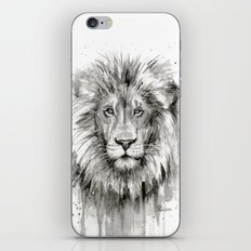 Lion Watercolor Animal iPhone Skin
