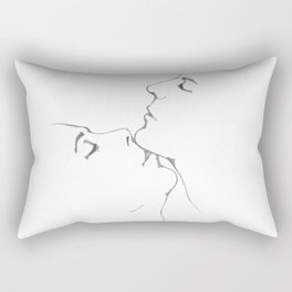 Kiss kiss kiss Rectangular Pillow