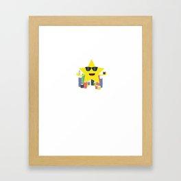 lucky star with poker chips Framed Art Print