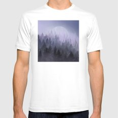 fantasy forest 2 White Mens Fitted Tee MEDIUM