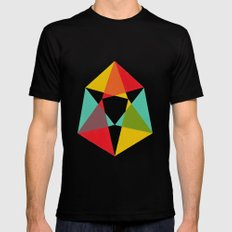 Triangles Black SMALL Mens Fitted Tee