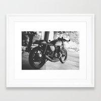 cafe racer Framed Art Prints featuring Cafe Racer by olegz