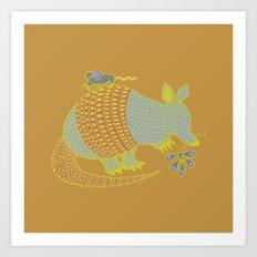 Southwest Armadillo Art Print