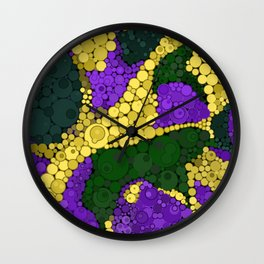 Gold river - abstract pattern Wall Clock