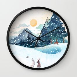Happy Litlle Wildlife Wall Clock