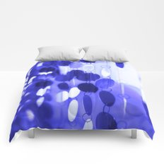 GLAM CIRCLES #Blue #2 Comforters