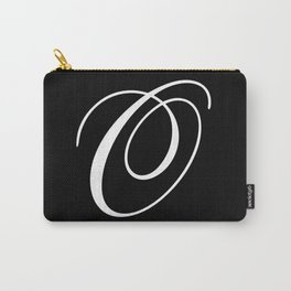 Elegant And Stylish Black And White Monogram O Carry-All Pouch