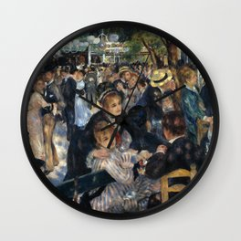 Pierre Renoir Ball at Le Moulin De La Galette Wall Clock