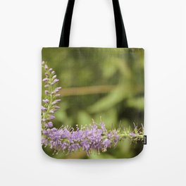 Purple Abstract Flower Vintage Tote Bag