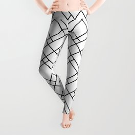 Simply Mod Diamond Black and White Leggings