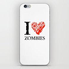 I Love Zombies (I love New York parody) Chainsaw iPhone & iPod Skin