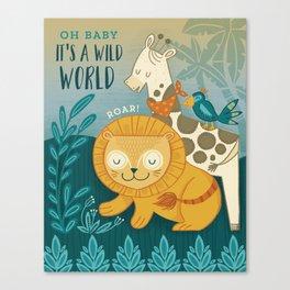 Safari Baby Canvas Print