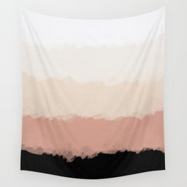 Abstract Rose Color Flora Blush Wall Tapestry