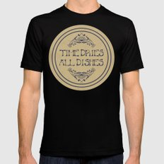 Time Dries All Dishes Mens Fitted Tee X-LARGE Black