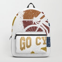 Cycling Girl Witty Drinking Bicycle Woman Backpack