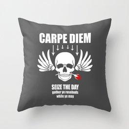 Vintage Carpe Diem Seize the day Throw Pillow