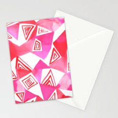 Geo Triangle Pink Stationery Cards
