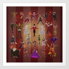 Greatest show Art Print