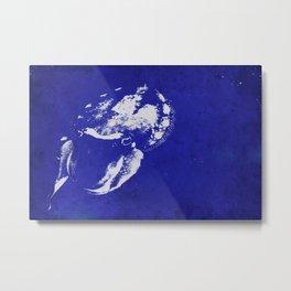 Cuttlefish Stencil Metal Print