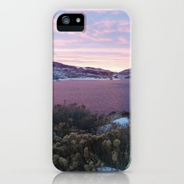 Sunset lake iPhone Case