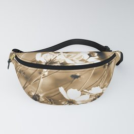 Dreamy, sepia colors wild meadow flowers photography Fanny Pack