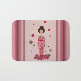 Kokeshi Geisha Japan Bath Mat