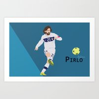 pirlo Art Prints featuring  Andrea Pirlo by Marwan Baghdadi