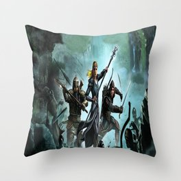fighters lord of the ring Throw Pillow
