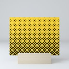 Yellow square pattern Mini Art Print