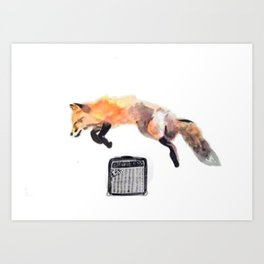 Fox Trot Blues Art Print