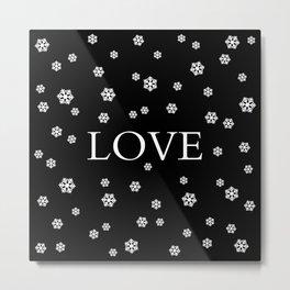 Winter Love - black Metal Print