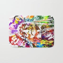 Native American Grunge Watercolor Bath Mat