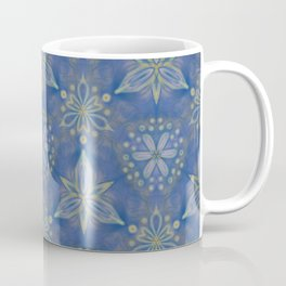 Blue flower Swirl pattern Coffee Mug