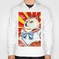 doge Hoodies featuring Sailor Doge by Michael Thomas Grant